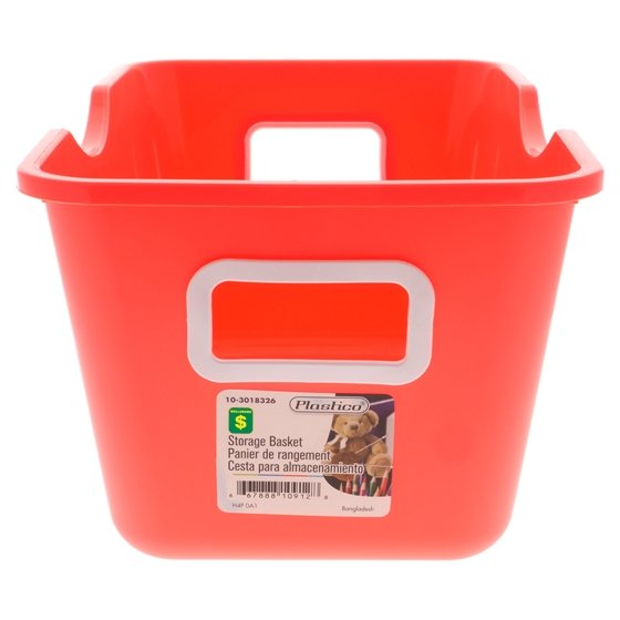 Storage Plastic Basket (Assorted Colours)