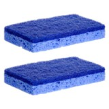 Non-Scratch Cellulose Scrub Sponges 2PK - 1