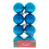 Non Breakable Xmas Tree Balls 8PK (Assorted Colours) - 0