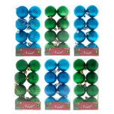 Non Breakable Xmas Tree Balls 8PK (Assorted Colours) - 1