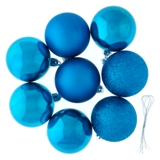 Non Breakable Xmas Tree Balls 8PK (Assorted Colours) - 2