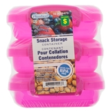 3Pk Lunch Storage Clip Lock Plastic Container - 2