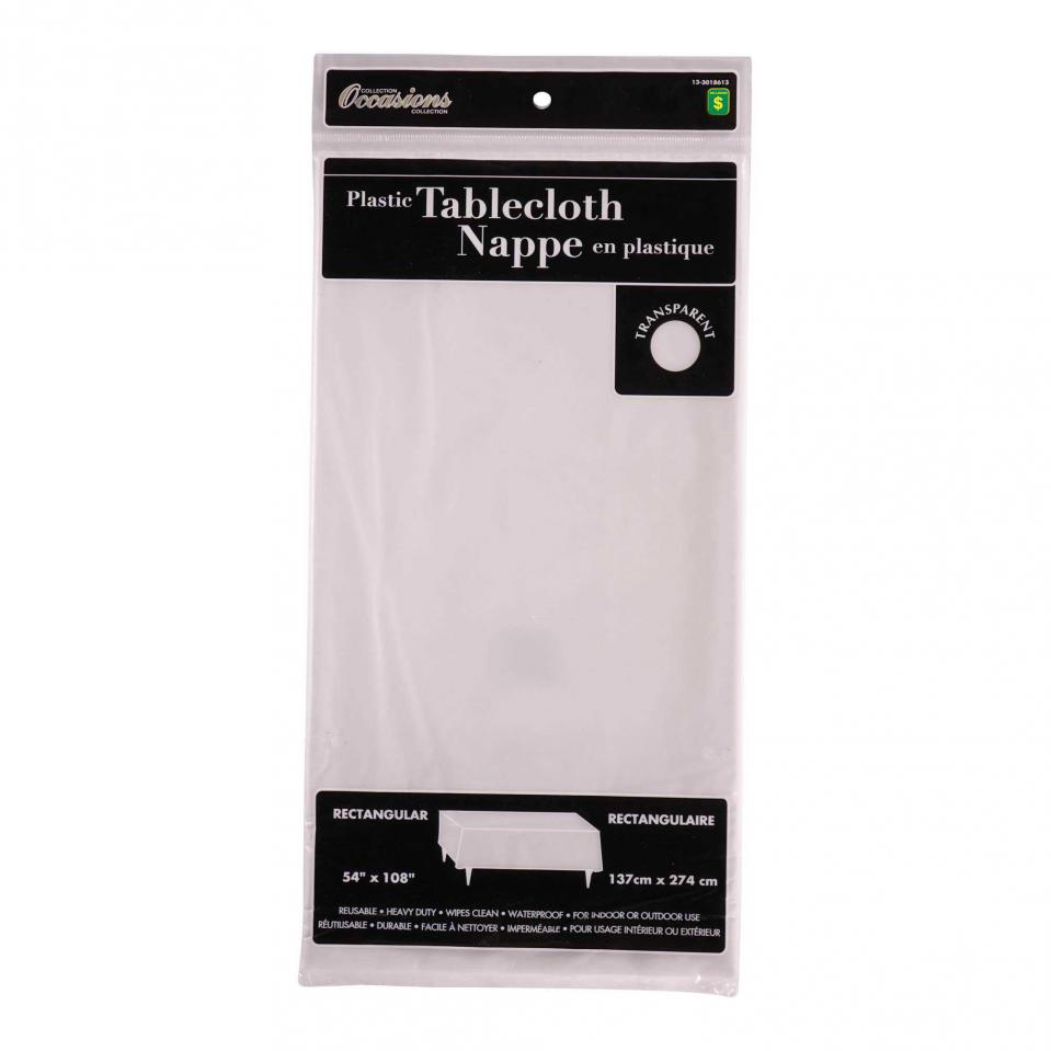 Rectangular Clear Plastic Tablecloth