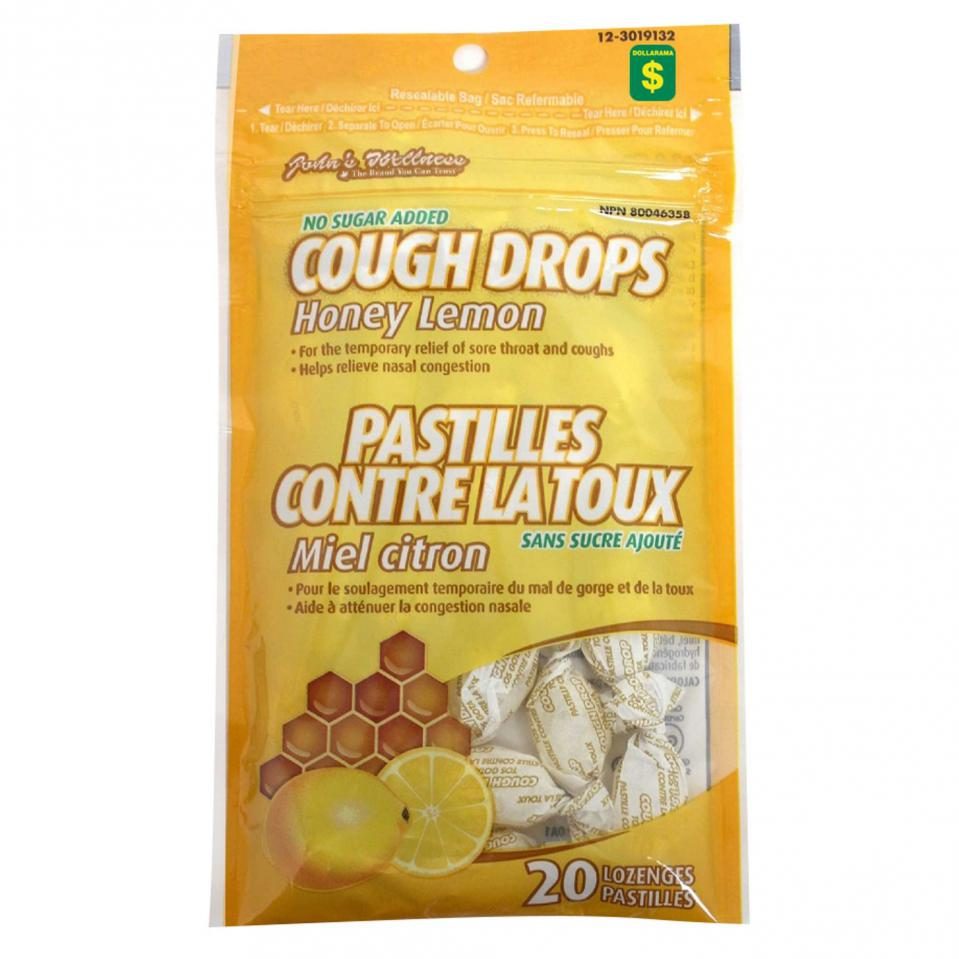 20PK Honey Lemon Cough Drops