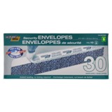 30PK Security Envelopes, no.10 - 0
