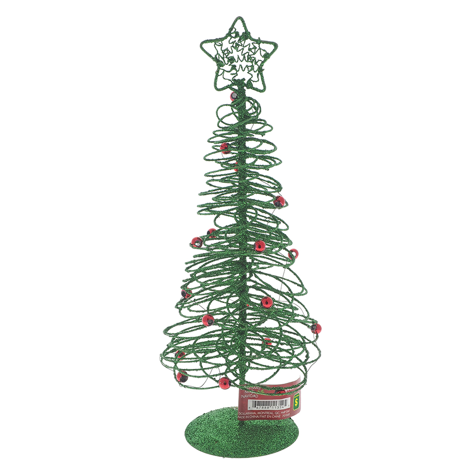 Glittered Tree With Star Tabletop Decoration
