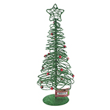 Glittered Tree With Star Tabletop Decoration - 0