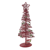 Glittered Tree With Star Tabletop Decoration - 1