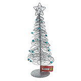 Glittered Tree With Star Tabletop Decoration - 2