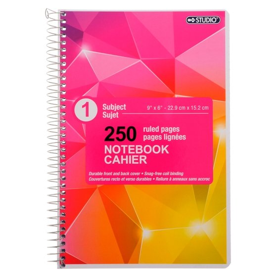 Spiral Notebook (Assorted Colours and Designs)