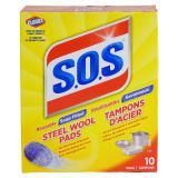 10 Tampons d'acier S.O.S - 0