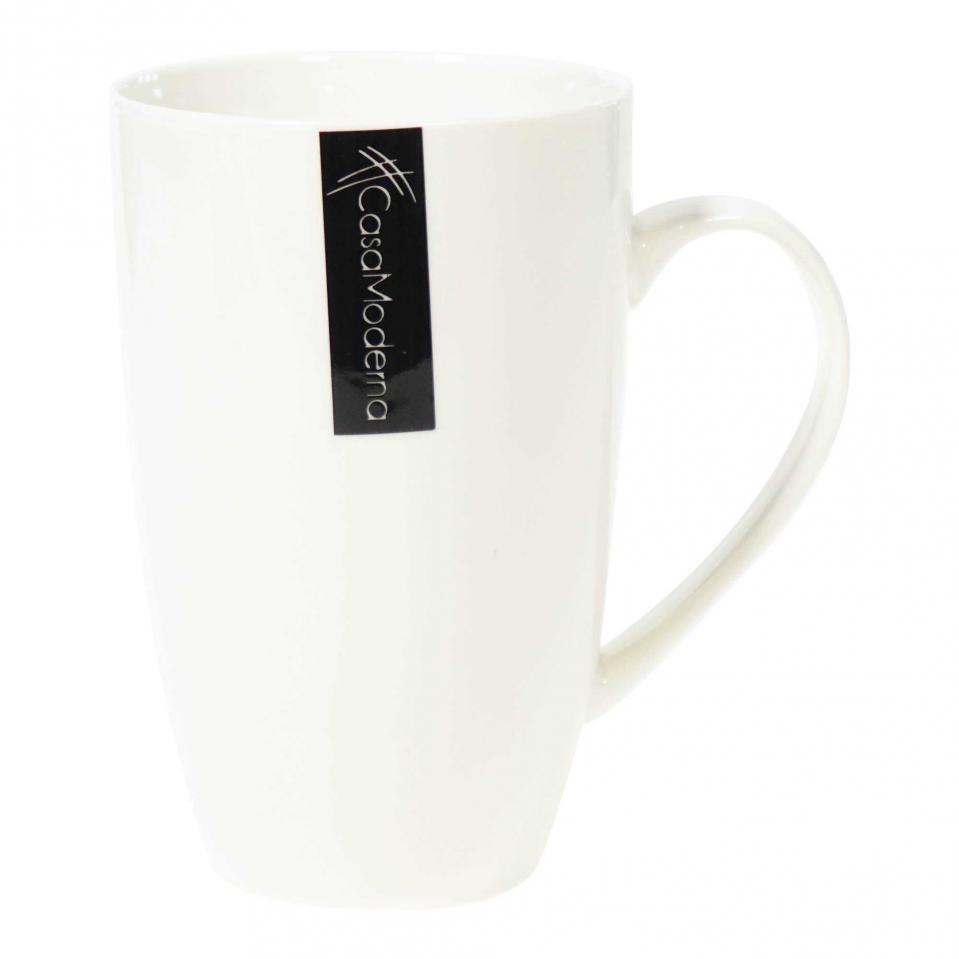 Tasse en porcelaine blanche de 14 oz