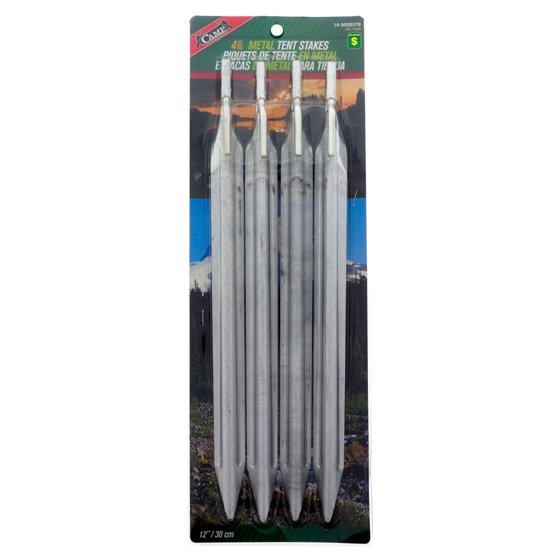 "4PK 12"" Metale Tent Stakes"