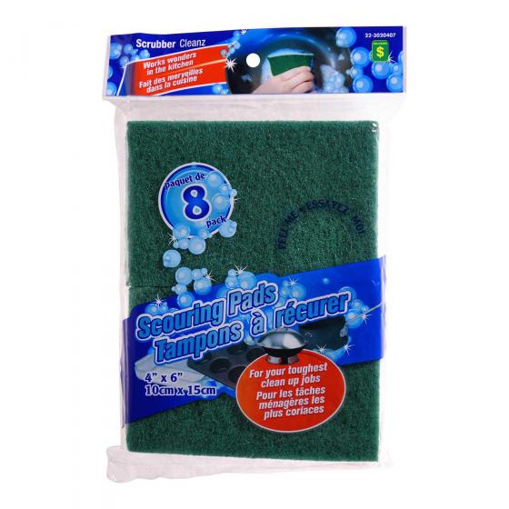 8PK Scouring Pads