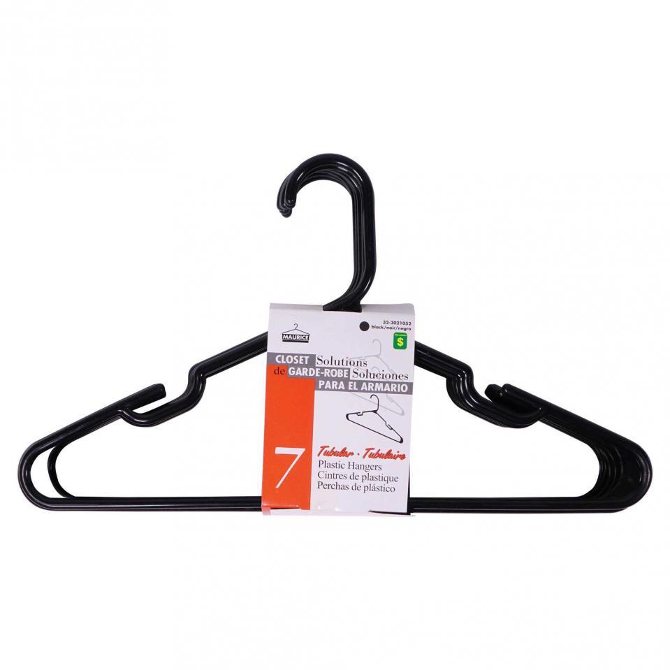 Black Plastic Hangers 7PK