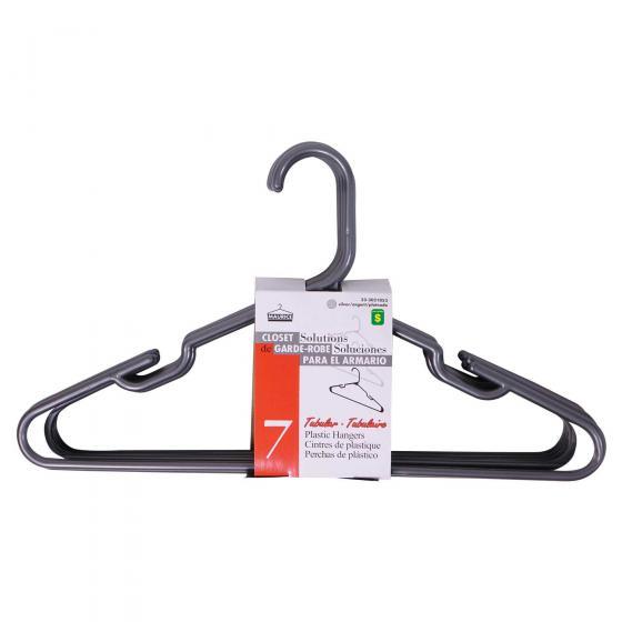 Silver Plastic Hangers 7PK