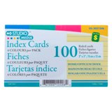 100PK Coloured Ruled Cards - 0