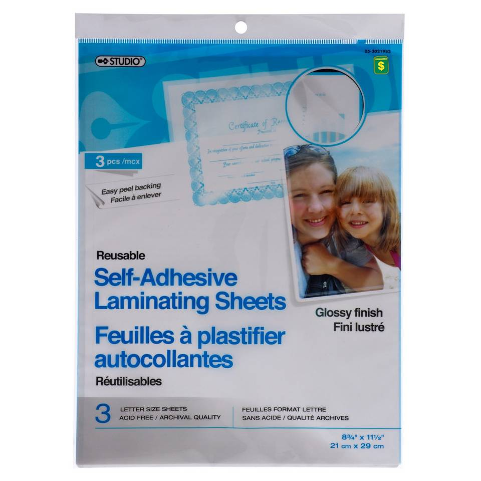 Self-Adhesive Laminating Sheets 3PK