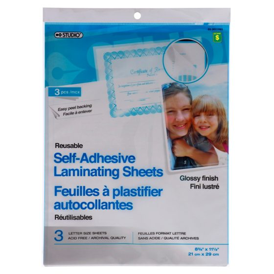 3PK Self-Adhesive Laminating Sheets