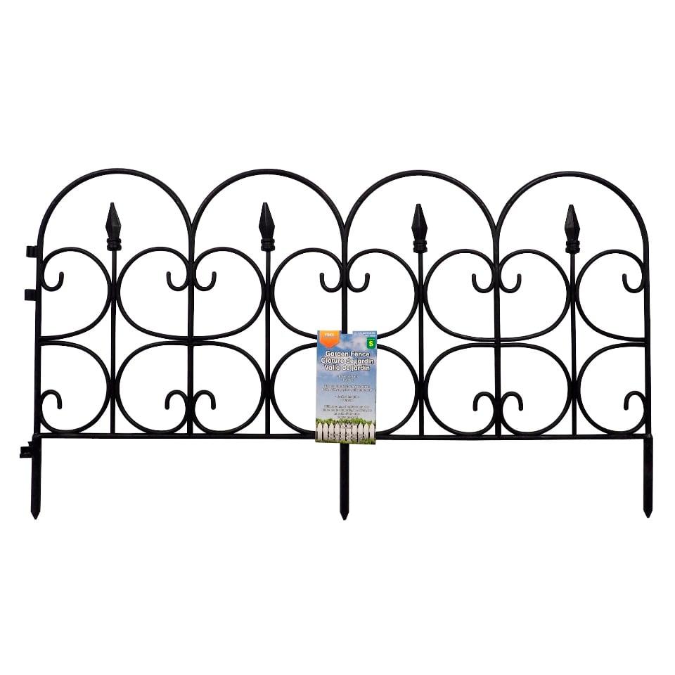 Ornate Plastic Garden Fence