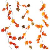 Thanksgiving Large Maple Leaves Garland - 0
