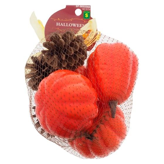 Paquet de 7 citrouilles et pommes de pin décoratrices