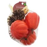 Paquet de 7 citrouilles et pommes de pin décoratrices - 0