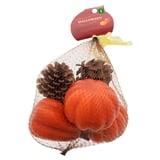 Paquet de 7 citrouilles et pommes de pin décoratrices - 1