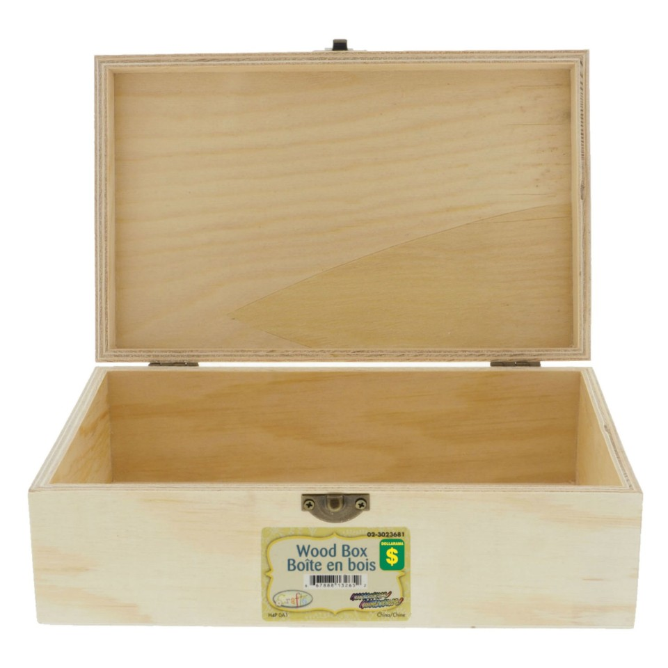 Natural Wood Box (Assorted Models)