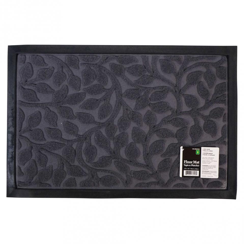 Embossed Floor Mat with Rubber Backing (Assorted styles and colours)