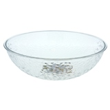 Large Plastic Bowl, Hammered Look - 1