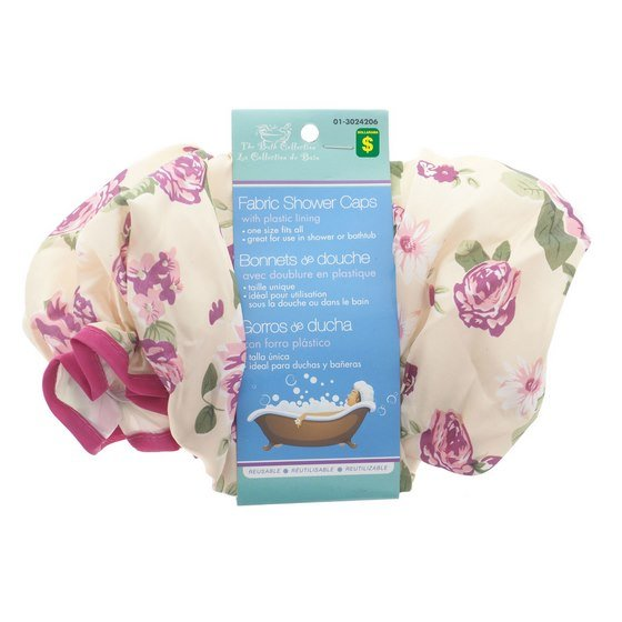 Fabric Shower Cap (Assorted Styles)
