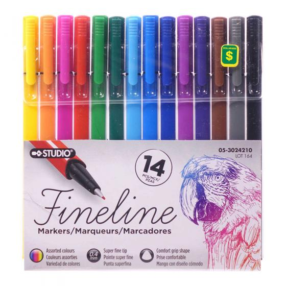 14PK Marker Set (Assorted Colours)