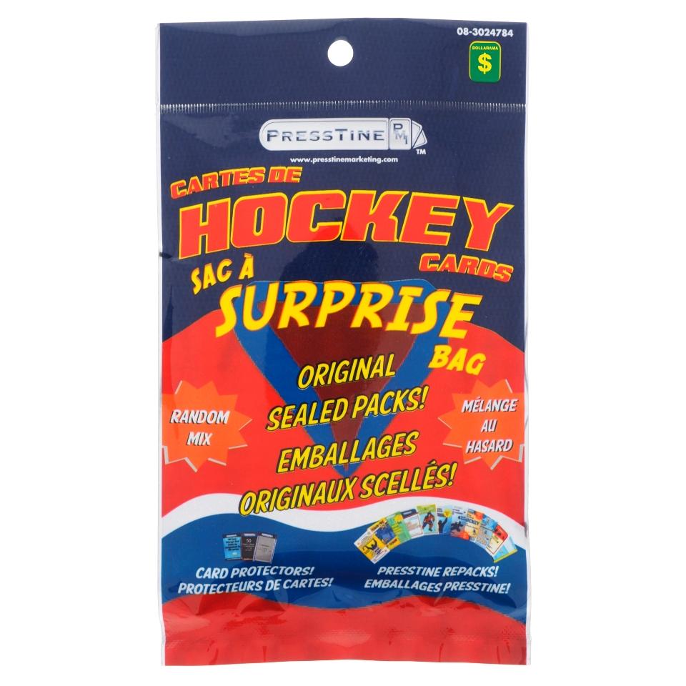 Sac surprise de cartes de Hockey