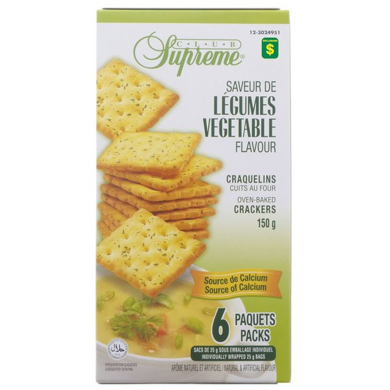 Vegetable Flavour Crackers 6PK