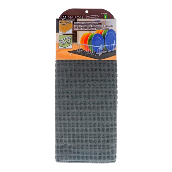 Microfibre Dish Drying Mat (Assorted colours)