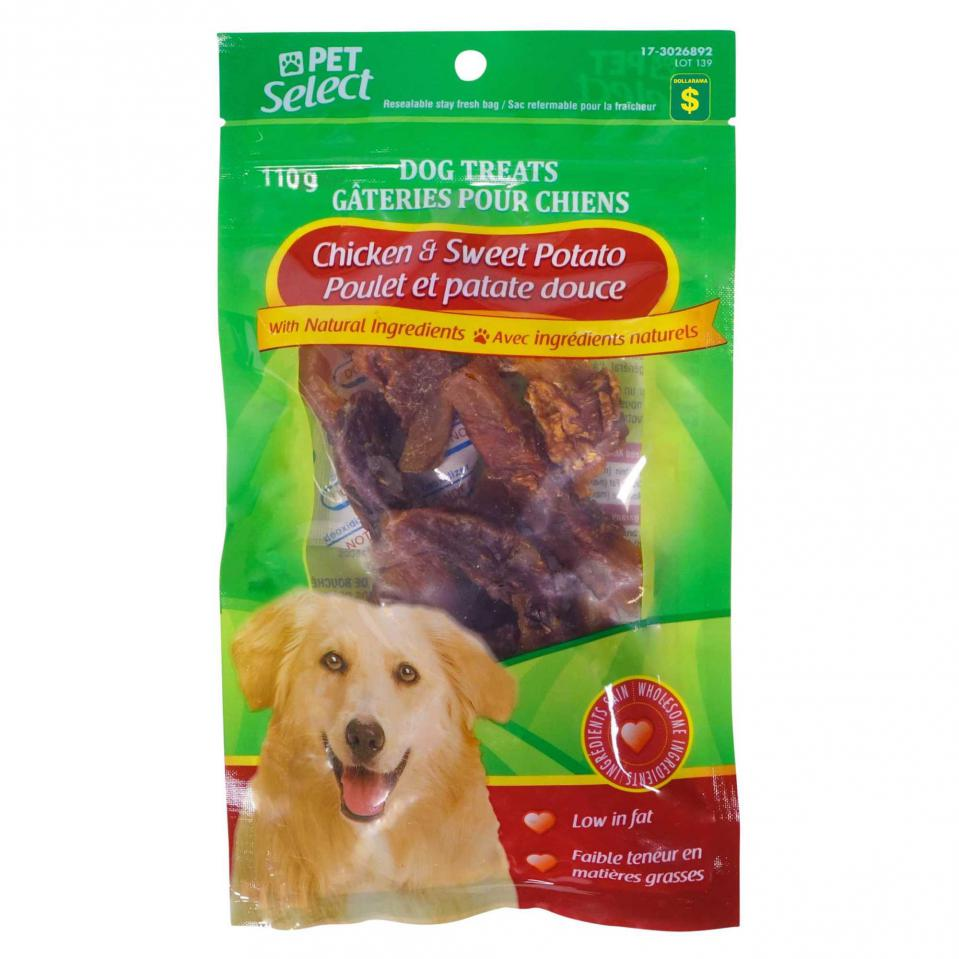 Gâteries pour chiens à saveur de poulet et patates douces