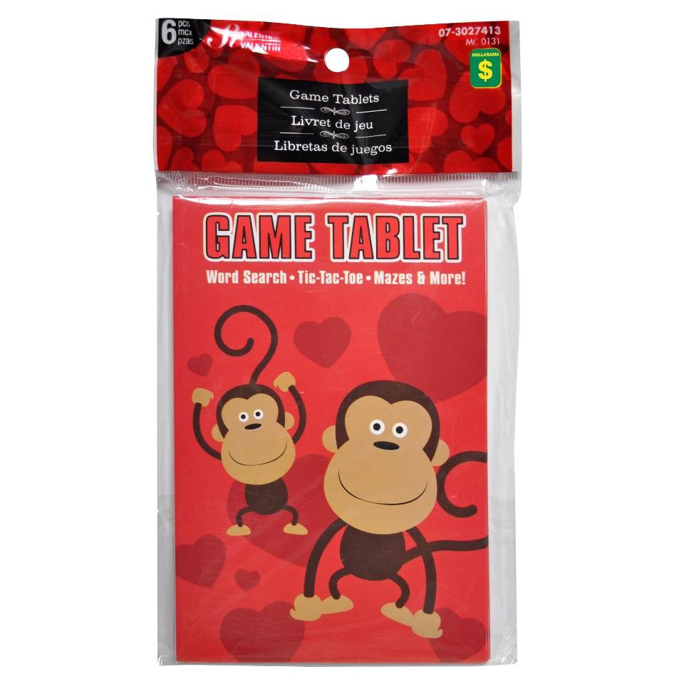 6Pk Valentines Game Tablets