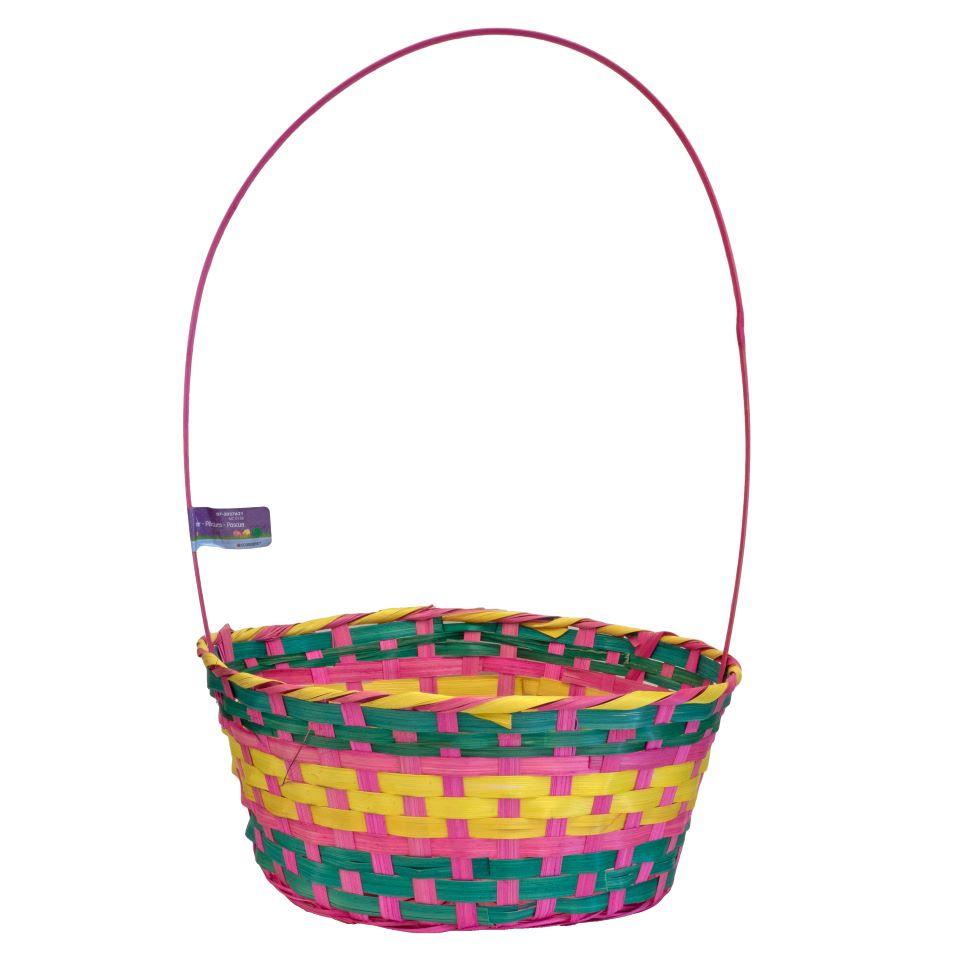 Easter Large Oval Wicker Basket