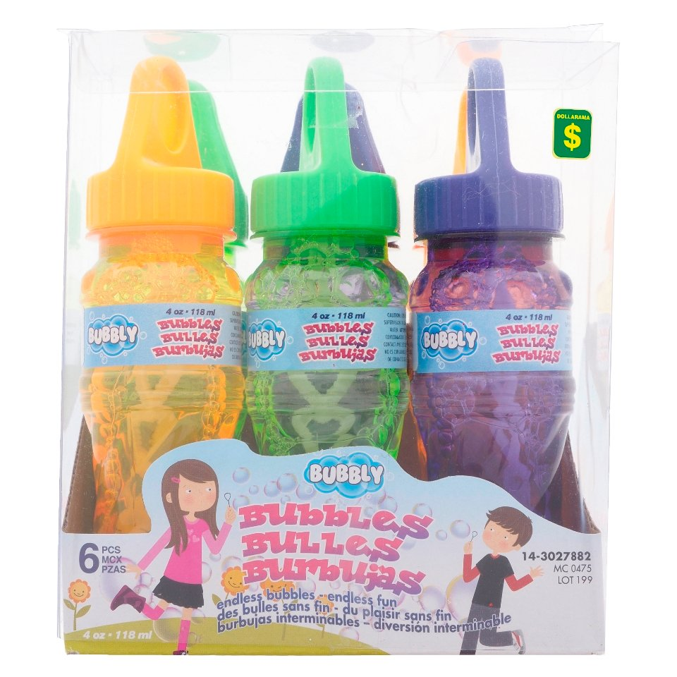 6Pk 4Oz Bubble Bottle With Wand