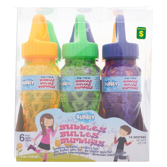 Paquet de 6 bouteilles de bulles avec baguette