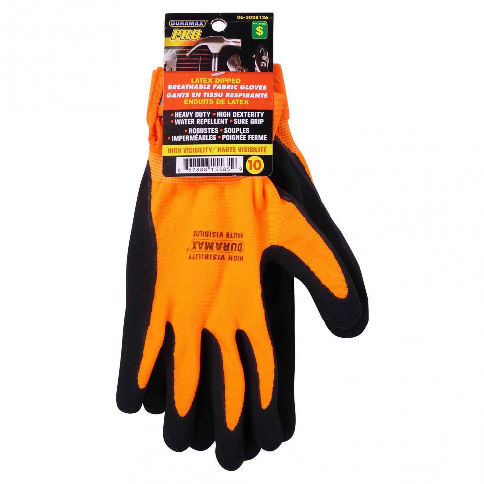 Latex Dipped Breathable Fabric Gloves (Assorted sizes)