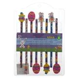 Paquet de 8 crayons à mine avec efface de Pâques - 0