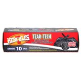 10PK Black Outdoor Garbage Bags - 1