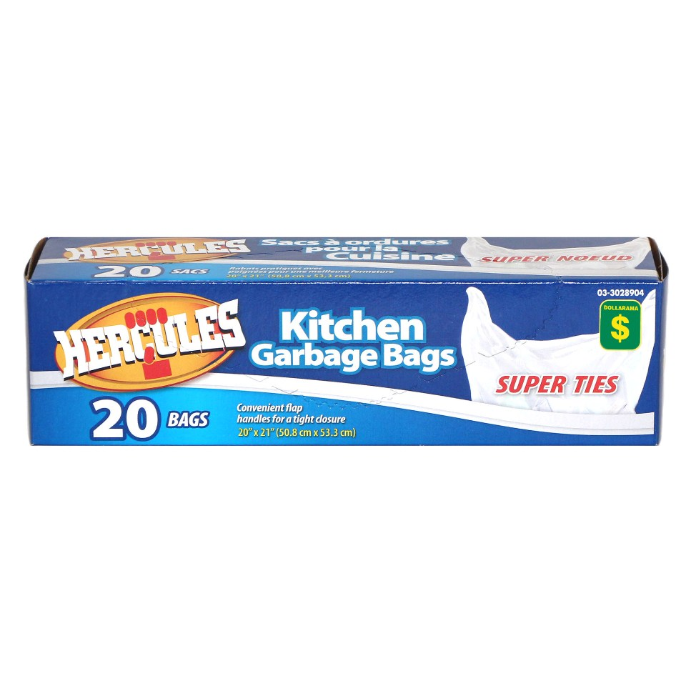 Kitchen Garbage Bags 20PK