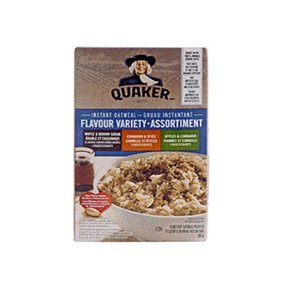 Quaker gruau instantané - Variétés