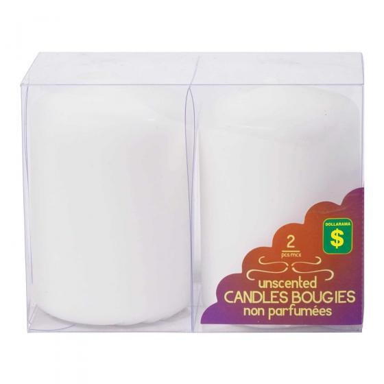 2PK Unscented Candles