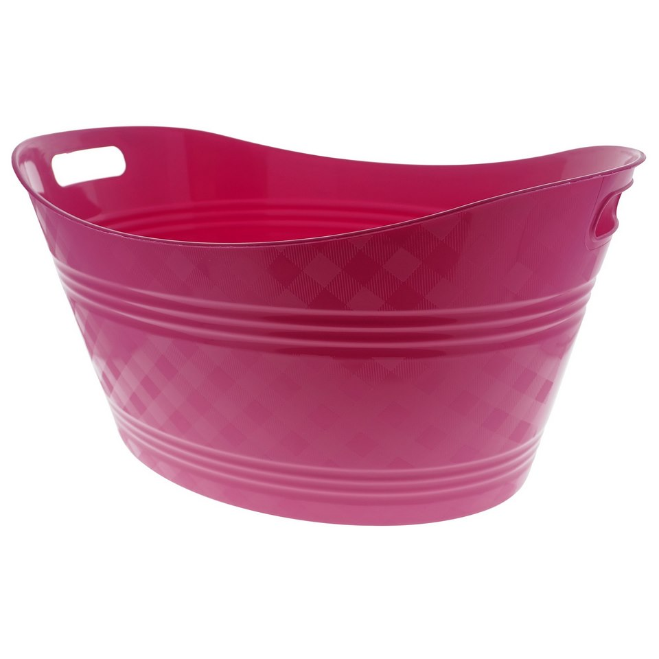 Large Plastic Oval Basket (Assorted colours)