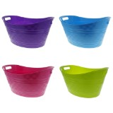 Large Plastic Oval Basket (Assorted colours) - 1