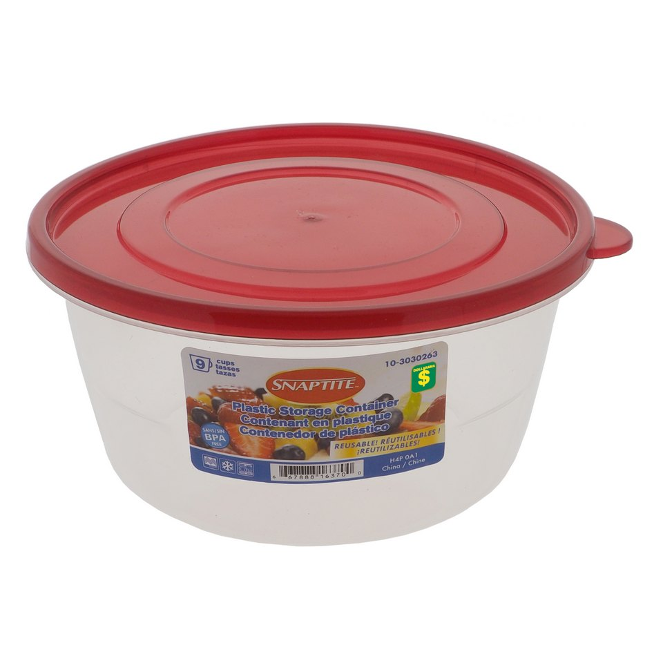 9 Cup Round Plastic Storage Container
